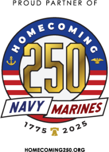 Logo for Navy Marine Corpos Homecoming 250 years