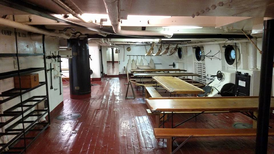 Photo of the interior of Cruiser Olympia at The Independence Seaport Museum